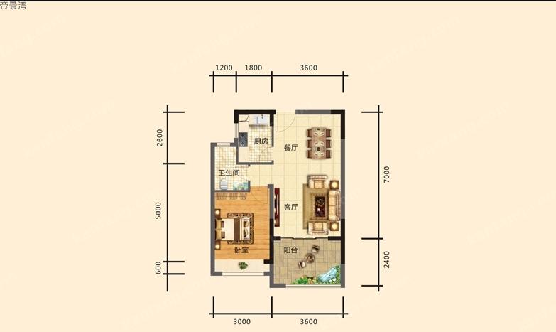 帝景湾5/10号楼03-04户型图