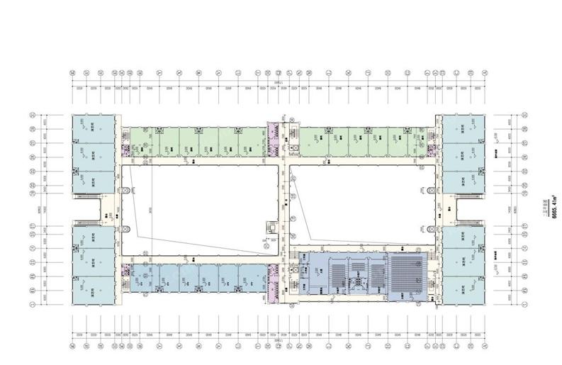 兴隆风情街二层商铺平面图